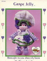 Grape Jelly Doll Dumplin Designs Crochet PATTERN/INSTRUCTIONS Leaflet - $3.12