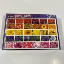 "PUZZLEBUG CraZart 18.25"" X 11"" Puzzle 300 Piece COLORFUL FLOWER COLLAGE ... - $10.38"