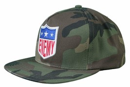 Another Enemy Football League EFL Green Camo Camouflage Snapback Baseball Hat NW image 2