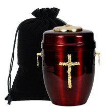 Beautiful steel cemation urn for ashes-memorial. Funeral/Coffin adult - $119.67