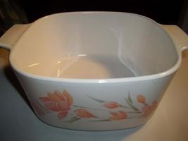Peach Floral ,Corning Ware A-1 1/2-B, 1 1/2 Quart /1 1/2Liter  Casserole... - $22.45