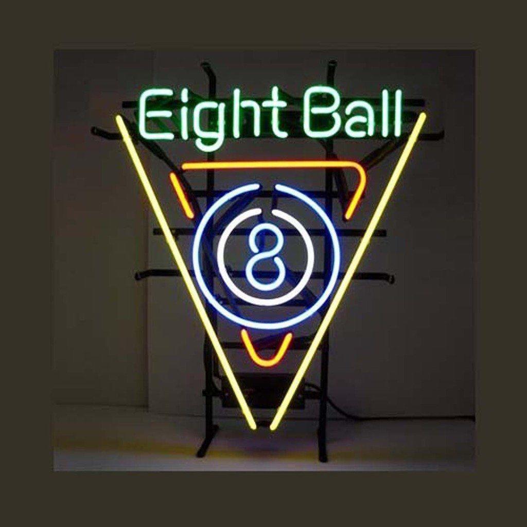 """New Eight Billiards Beer Bar Neon Sign 24""""x20"""""""