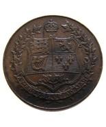CANADA 1867-1927 CONFEDERATION 60TH ANNIVERSARY BRONZE MEDAL XF GRADE - ₨649.65 INR