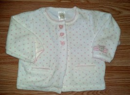 Girl's Size 6 M Months Soft Fleece 2 Piece Top Pant Carter's Outfit Hear... - $6.50