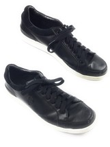 Polo by Ralph Lauren Talbert Black Leather Sneakers Shoes Mens 10.5D - $16.79