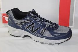 New Balance Trail Running Men's Shoes, Size 7.5D &Amp; 8-4E Xwid GREY/BLUE, MT410SN4 - $44.95