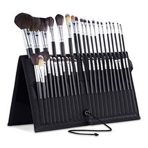 Professional Travel Makeup Brush Holder Soft Sided Nylon Fabric - $19.75