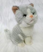 Dan Dee Tabby Cat Kitten Gray White Plush Stuffed Animal ToyYellow Eyes ... - $6.00