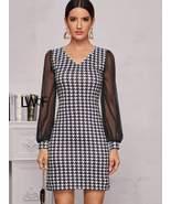 Houndstooth Print Dress - $29.00