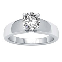 14K White Gold Fn 1.25 Ct Round 4-Prong Set D/VVS1 Diamond Solitaire Wed... - $138.08