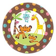 "Fisher Price Baby Shower Monkey Jungle 7"" Dessert Plates, 8ct - $3.46"