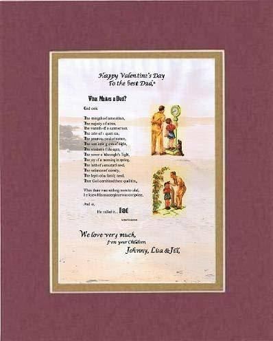 Primary image for Personalized Touching and Heartfelt Poem for Father - What Makes A Dad? Poem on