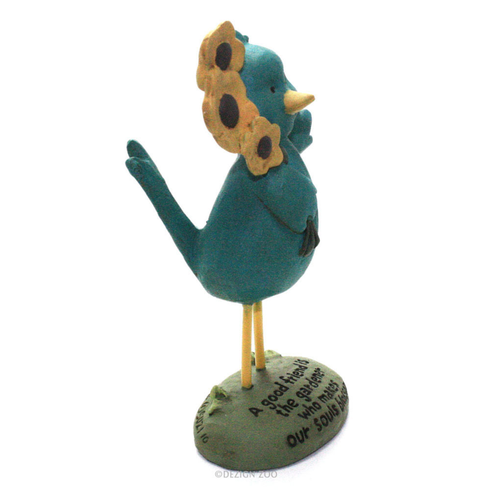 Blossom Bucket Good Friend Blue Bird Figurine Cute Friendship Gift
