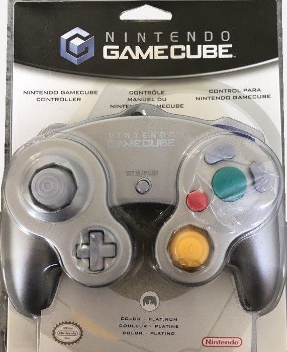 Nintendo Gamecube Controller Platinum Great Condition Fast Shipping