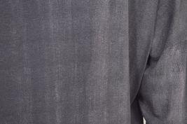 Matti Mamane top SZ M NWT dark gray drawstring waist scoop neck 3/4 sleeve new image 6