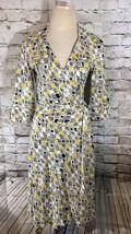 Diane Von Furstenberg Silk Wrap Dress Satellite View Daffodil Denise DVF Sz 0 2 - $124.97