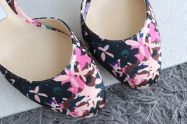 NEW AUTH JIMMY CHOO Pink Black Flower Pumps Heels Shoes 35.5 image 7
