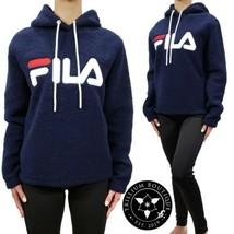 Fila Women's Sherpa Hoodie Sweatshirt Blue Medium Athleisure Polyester NWT - $59.37