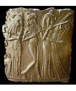 Egyptian Dancing Girls sculpture relief in Bronze Finish - $24.74