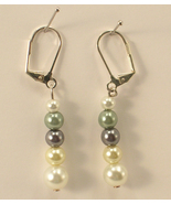 White Cream Gray Green & Small White Imitation ... - $11.00