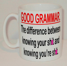 Good Grammar The Difference In Knowing Mug Can Personalise Funny Teacher... - $9.23