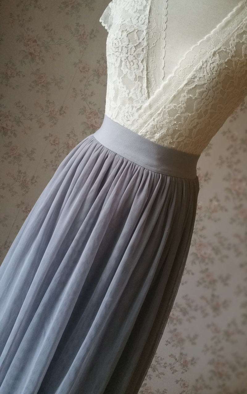 Light gray tulle skirt 7