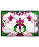 20x14 Stained Art Glass FLEUR DE LIS  Suncatche... - $62.00