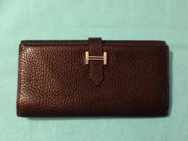 Hermes Epson Leather Chocolate Trifold Wallet - $875.00