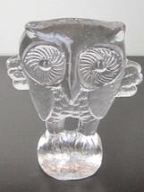 Large Vintage Kosta Boda Sweden ZOO Series Flat Back Owl Figurine Paperw... - $30.00