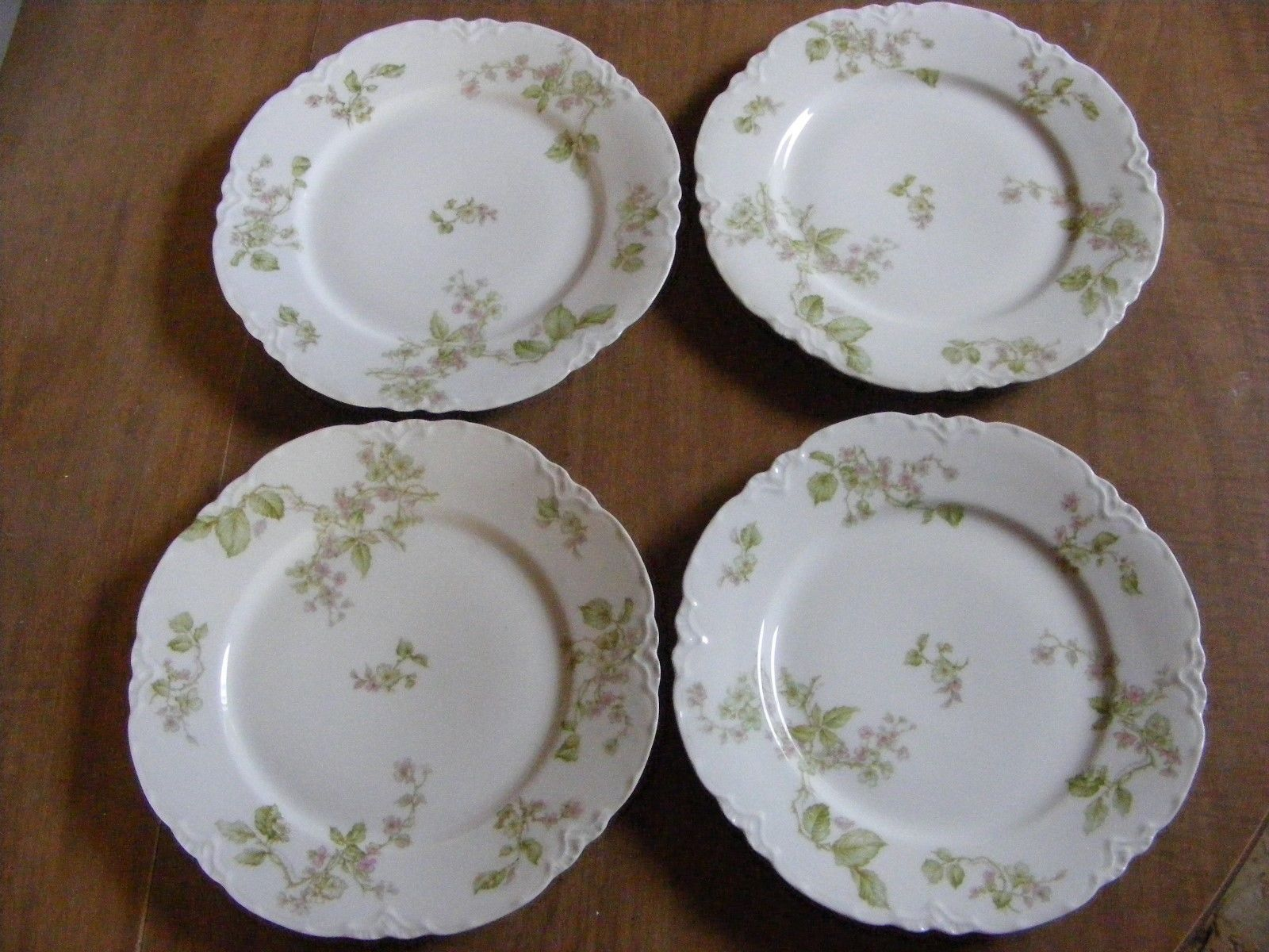 4 Haviland Limoges Green Pink Flowers 85 And 26 Similar Items