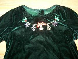 Girls Size 5 Sophie Rose Green Velour Christmas Holiday Dress Beaded Nec... - $22.00