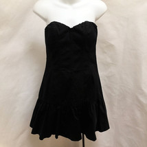Express Sz 6 Dress Black Strapless Corset Sweetheart Neckline Tiered Mini  - $25.46