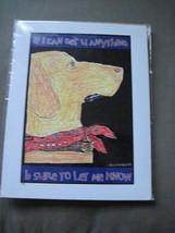 Yellow lab dog art print - $10.00