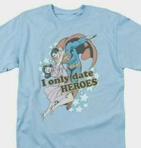 Superman T-shirt Date Heroes DC comics Batman superhero retro cotton tee DCO417 image 1