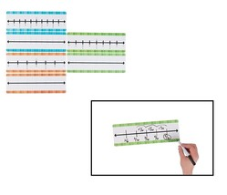 "Dry Erase Fraction Number Lines (30 Pieces) Plastic 12"" x 4"""