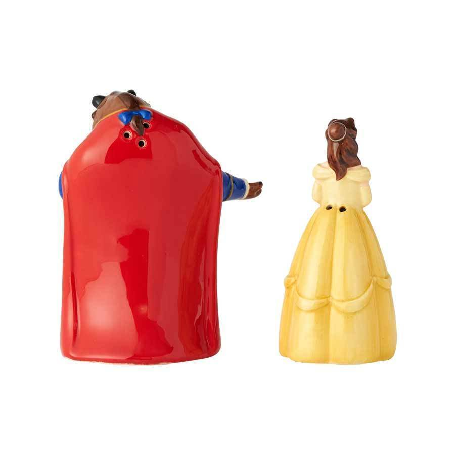 Walt Disney Beauty & the Beast First Dance Ceramic Salt & Pepper Shakers Set NEW