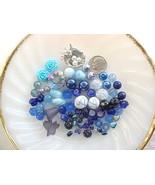 SALE Lot Blue Mixed Czech Beads Mix Assorted Glass Bead DIY Jewelry Maki... - $12.98