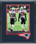 James White & Sony Michel Super Bowl LIII-11x14 Team Logo Matted/Framed ... - $43.55
