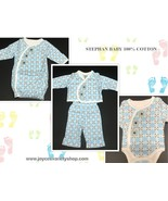 Stephan Baby Infant Sets 100% Cotton Blue Various Styles Preemie 4-6 Lbs - $8.99