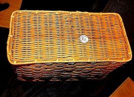 Tender Heart Treasures Woven Handmade Basket AA18-1359 Vintage 1995 image 5
