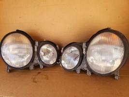 00-02 Mercedes W210 E320 E430 E55 AMG Halogen Headlight Set L&R - MINT