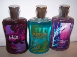 3 Bath & Body Works Shower Gel- Aruba Coconut, Dark Kiss, Secret Wonderland - $28.50