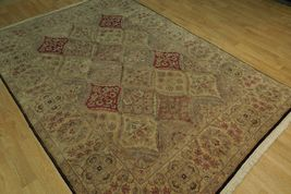 5x7 Multi-Color Oushak Wool Handmade Checked All-Over Transitional Area Rug image 11