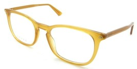 Gucci Eyeglasses Frames GG0122O 009 54-21-145 Yellow Made in Italy - $144.45