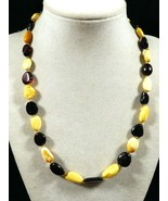"Baltic Russian natural genuine  polished Butterscotc & Cognac Amber 18"" ... - $143.55"