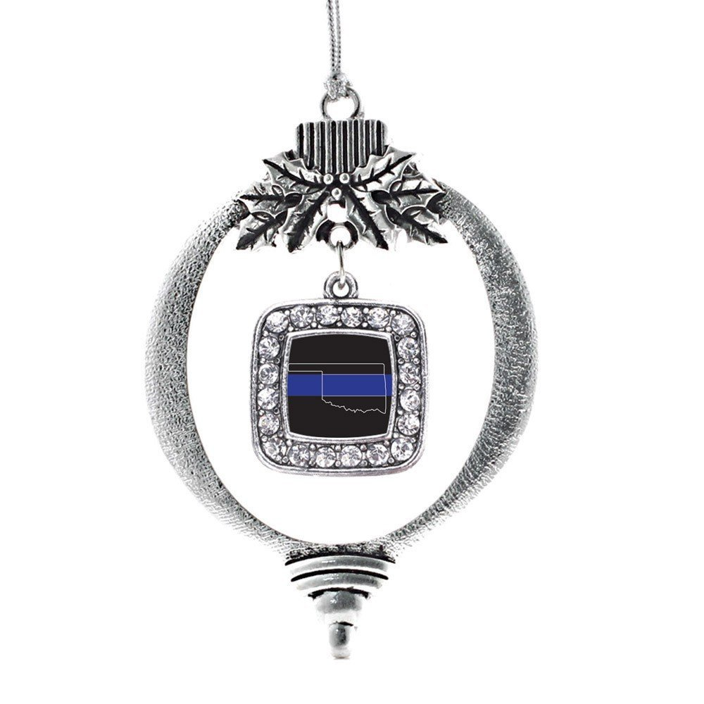 Primary image for Inspired Silver Oklahoma Thin Blue Line Classic Holiday Ornament