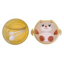 Children Bento Lunch Box Cartoon Bear Insulation Spoon Fork Food Contain... - $5.80