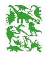 LiteMark Yellow Green Assorted Dinosaur Decals - Pack of 42 - $19.95