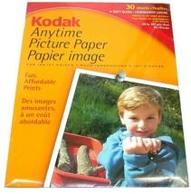 "Kodak Inkjet Anytime Picture Soft Gloss Paper 30 Count 44 lb 8.5"" X 11"" 894 7142 - $17.98"