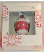New Wedgwood Red and White Jaspeware Christmas Red NeoClassical Bauble T... - $39.99